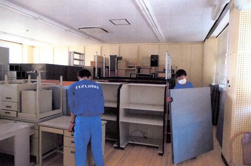 引越しのAZUMA オフィスの引っ越し 事後の搬出も考慮して集積